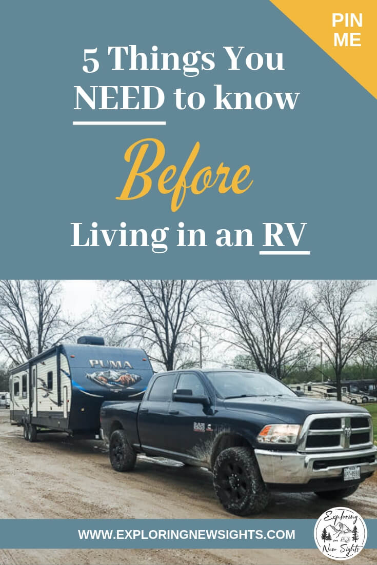 5 things you need to know before living in an RV - Living In An RV - Top 5 Things We Wish We Knew Before