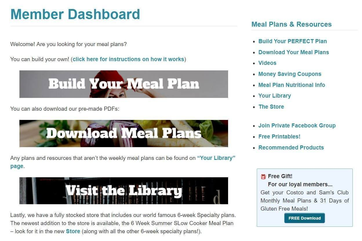 5dollarmealplandashboard 1 - The Best $5 Meal Plan for RVers | Free 14 Day Trial