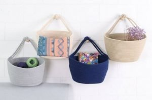 Hanging Woven Baskets 300x199 - 7 Ideas To Create Extra Wall Storage In Your RV