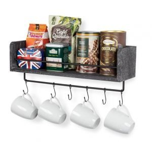 coffeestationfloatingrack 300x288 - 7 Ideas To Create Extra Wall Storage In Your RV