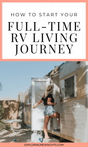 how to start your full-time RV living journey