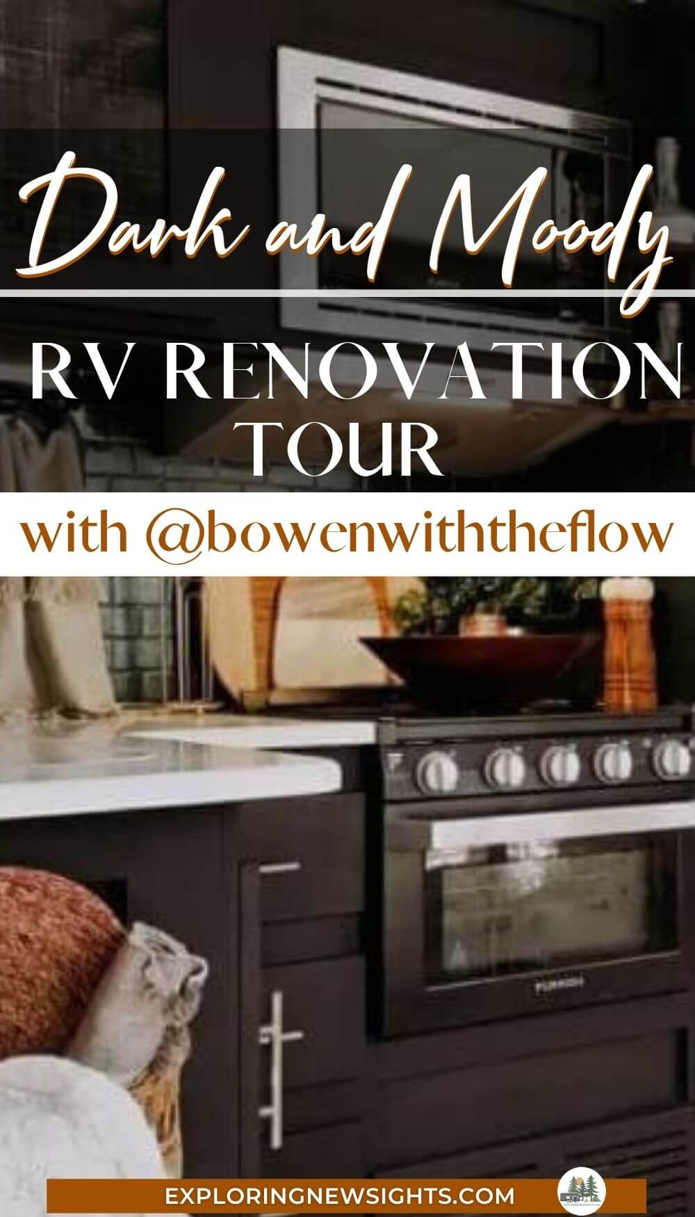 Dark and moody RV renovation tour