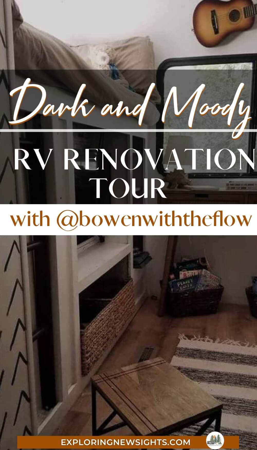 RV Renovation with Dark Cabinets