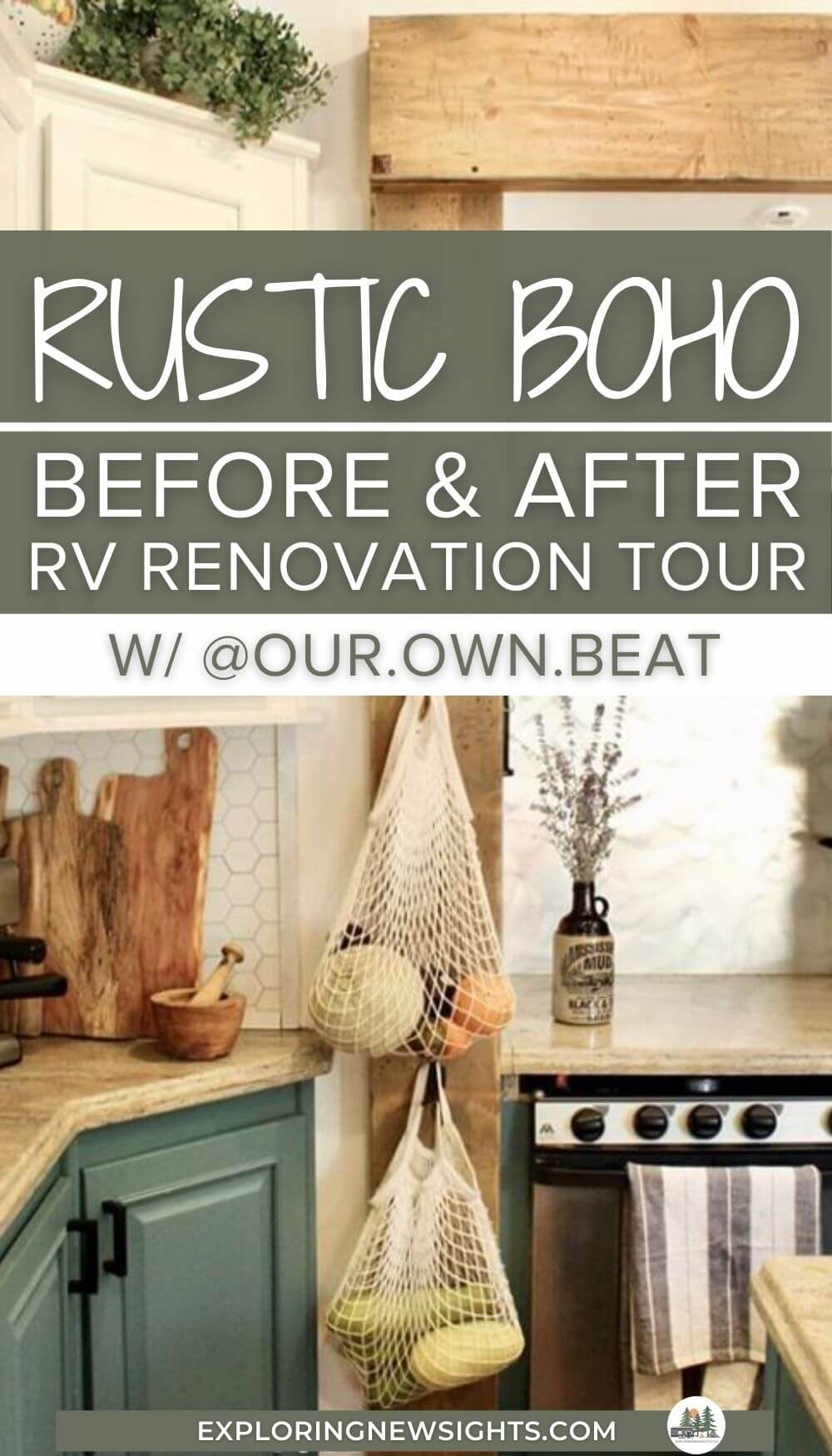 rustic bohemian RV renovation tour