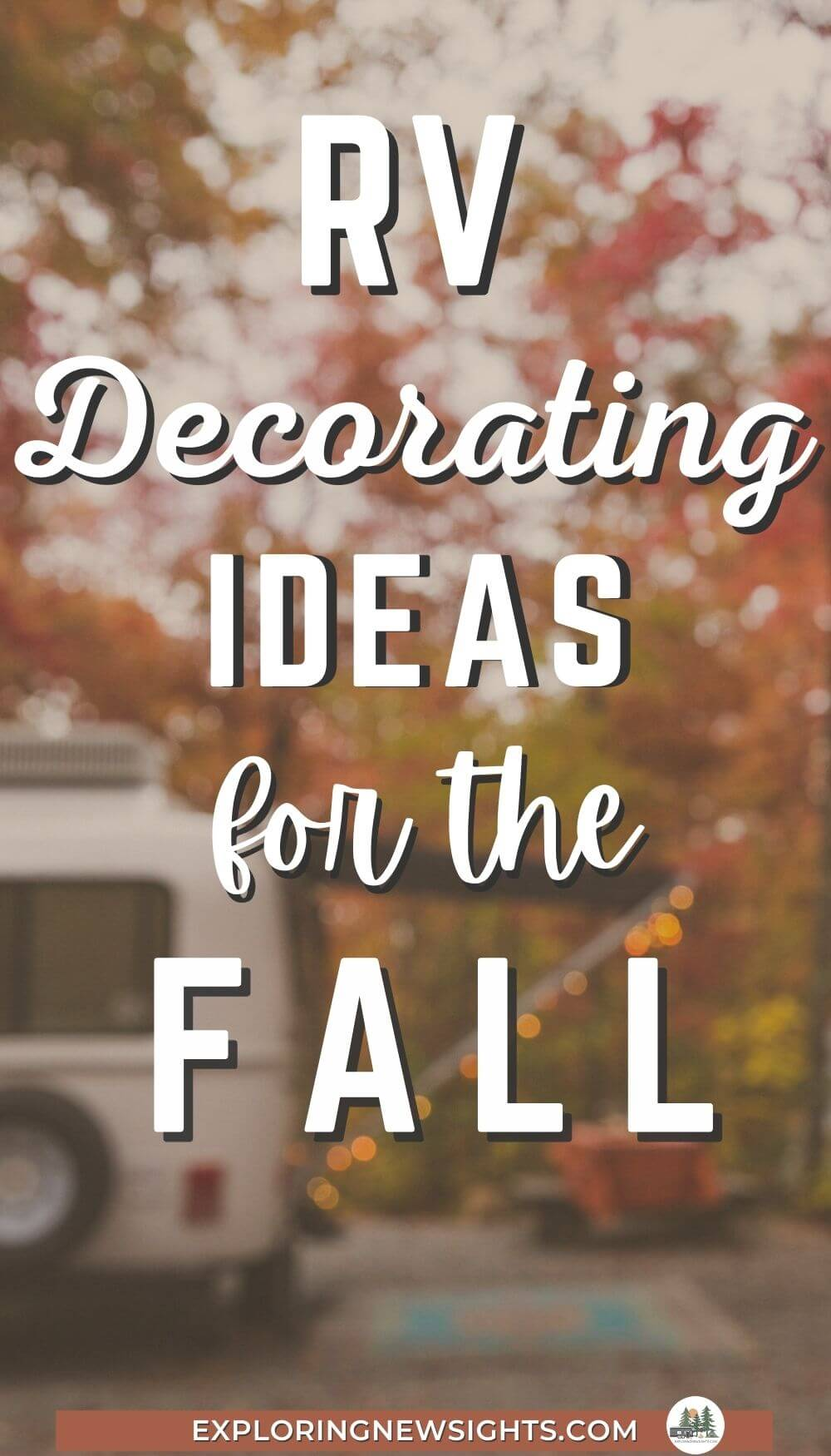 RV Decorating for Fall