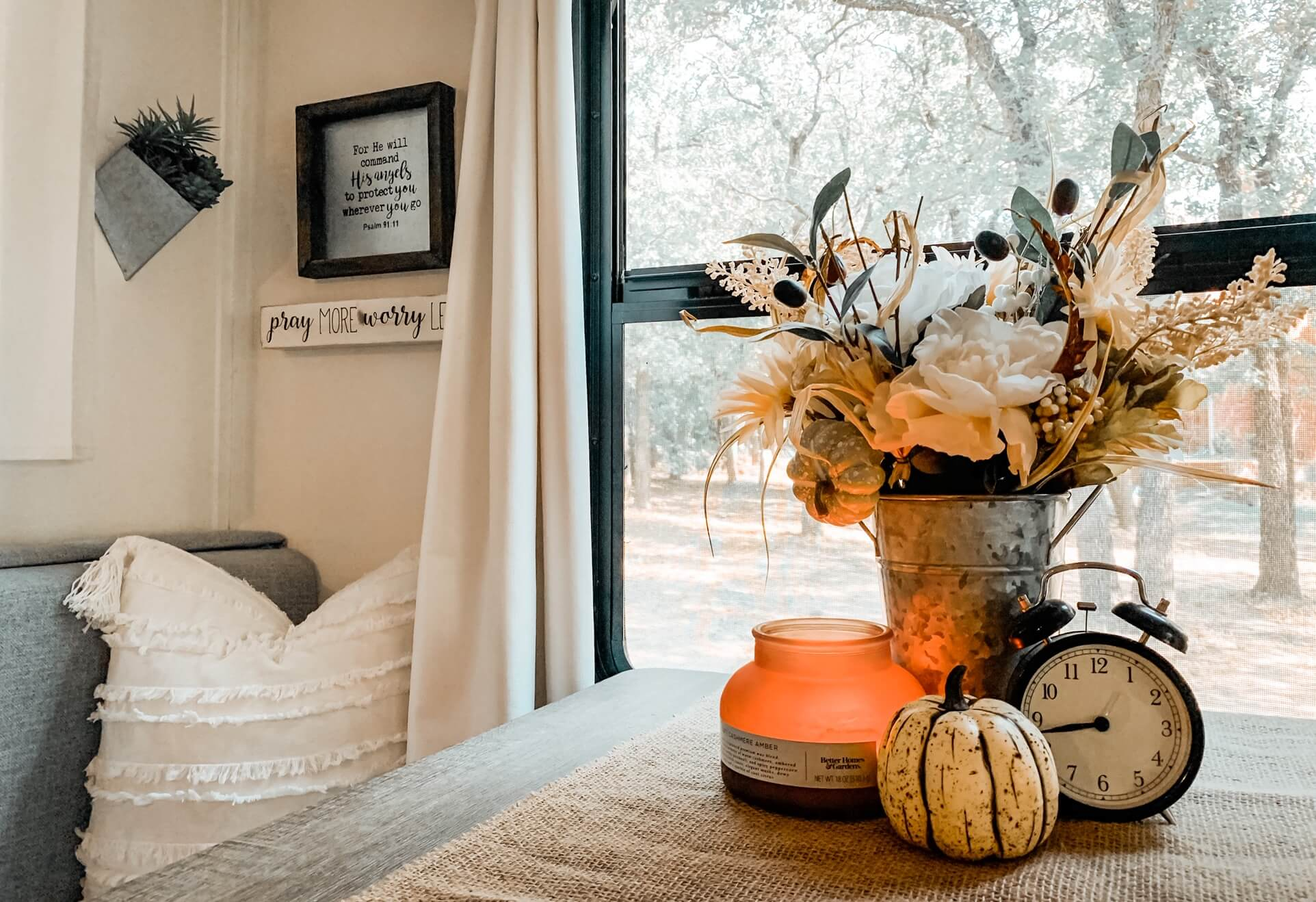 RV Decorating Fall Camper